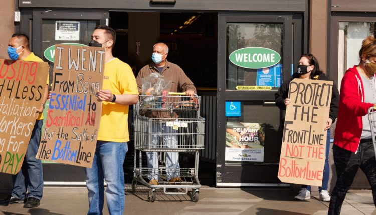 'We Are Forgotten': Grocery Workers Hope for Higher Pay and