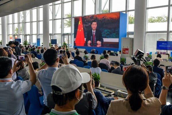 Xi Jinping of China Calls for Openness Amid Strained Ties